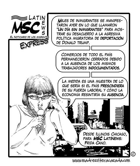 MSC LatiNius Un dia sin inmigrantes