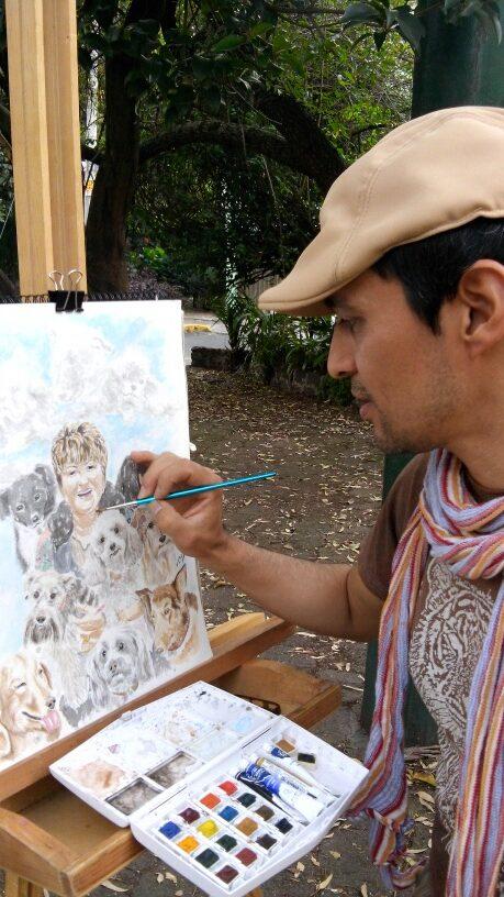 Fredy pintando